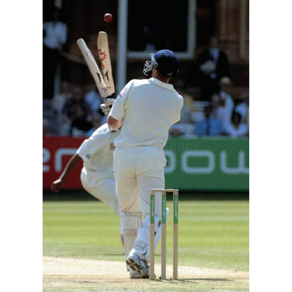 Andrew Flintoff splits his bat trying to hit a 6 during the Npower 2nd Test - England v South Africa at Lords | TotalPoster
