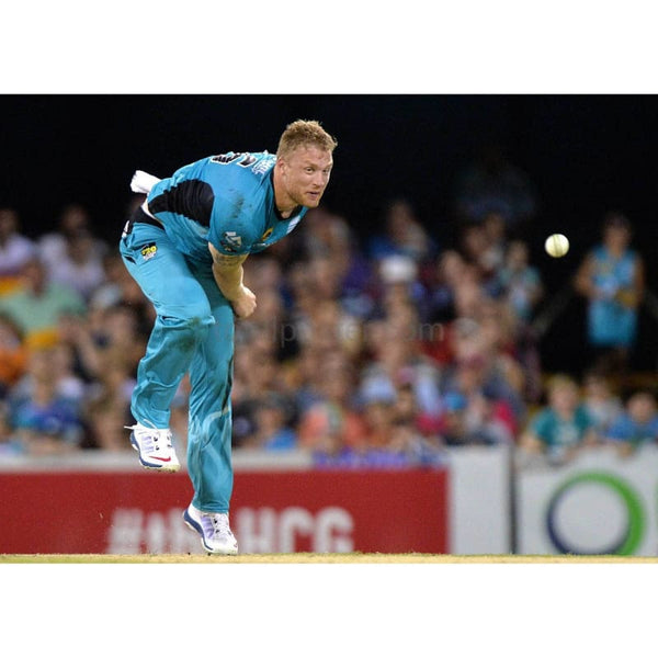 Andrew Flintoff of the Heat bowls during the Big Bash League match between the Brisbane Heat and Sydney Sixers at The Gabba in Brisbane, Australia | TotalPoster