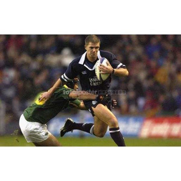 Andy Craig in action during the Scotland v South Africa test match TotalPoster