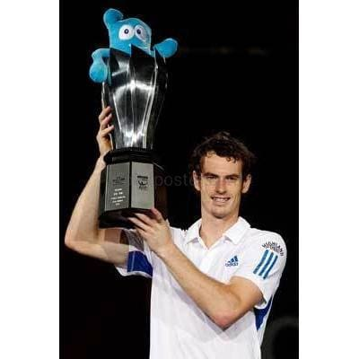 Andy Murray celebrates his victory in the Shanghai Rolex Masters TotalPoster
