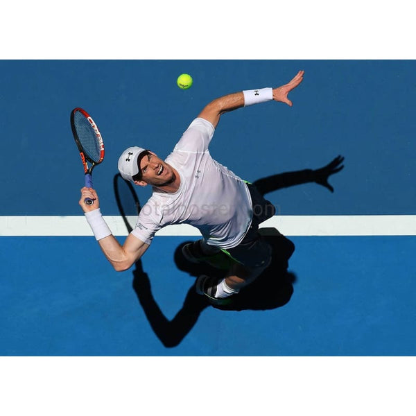 Andy Murray plays a backhand to Jerzy Janowicz during the Hopman Cup TotalPoster