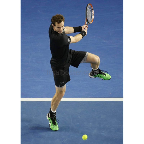 Andy Murray serves to Jerzy Janowicz during the Hopman Cup TotalPoster