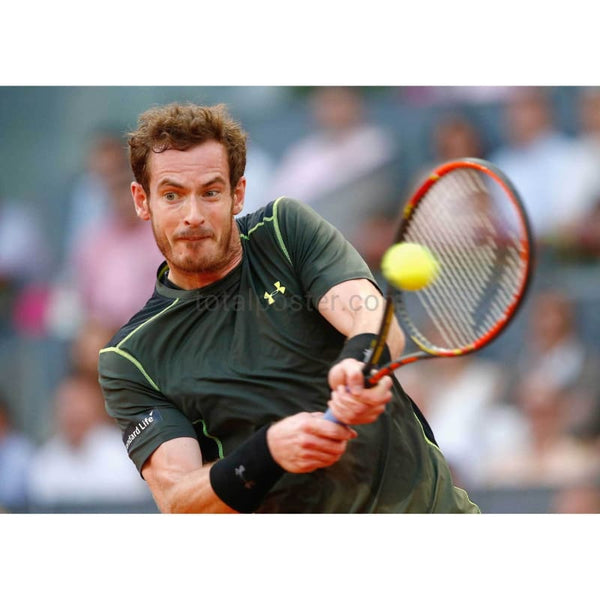 Andy Murray in action during the Mutua Madrid Open Tennis Tournament TotalPoster
