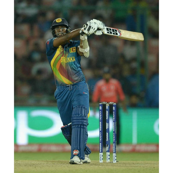 Angelo Mathews bats during the ICC World Twenty20 India 2016 Group 1 match between England and Sri Lanka at Feroz Shah Kotla Ground in Delhi | TotalPoster