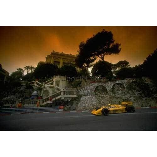 Ayrton Senna st the Station hairpin during Monaco F1 TotalPoster