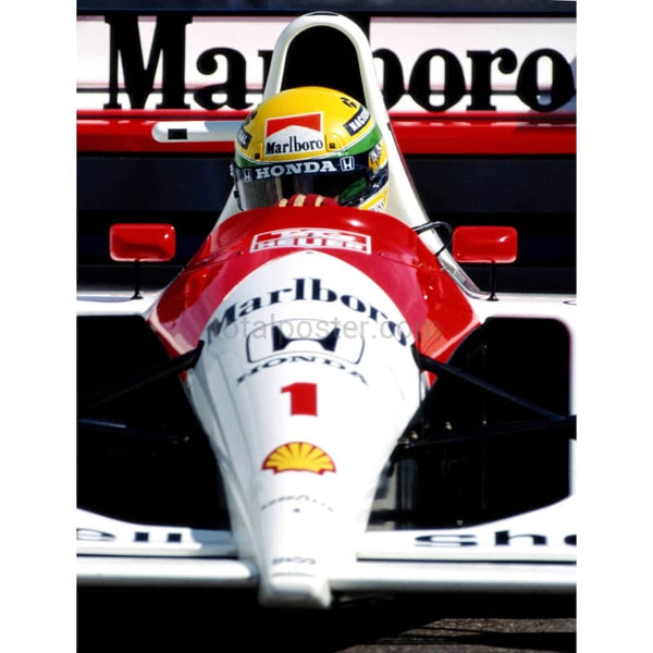 Ayrton Senna during the USF1 Grand Prix TotalPoster