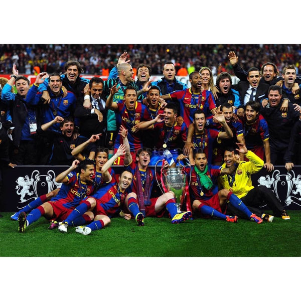 Barcelona Celebrate | Football Posters | TotalPoster