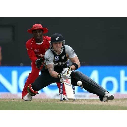 Brendon McCullum in action during the ICC T20 World Cup Group B match between New Zealand and Zimbabwe | TotalPoster