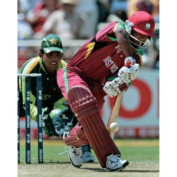 Brian Lara in action during the World Cup cricket math between the West Indies and Pakistan | TotalPoster