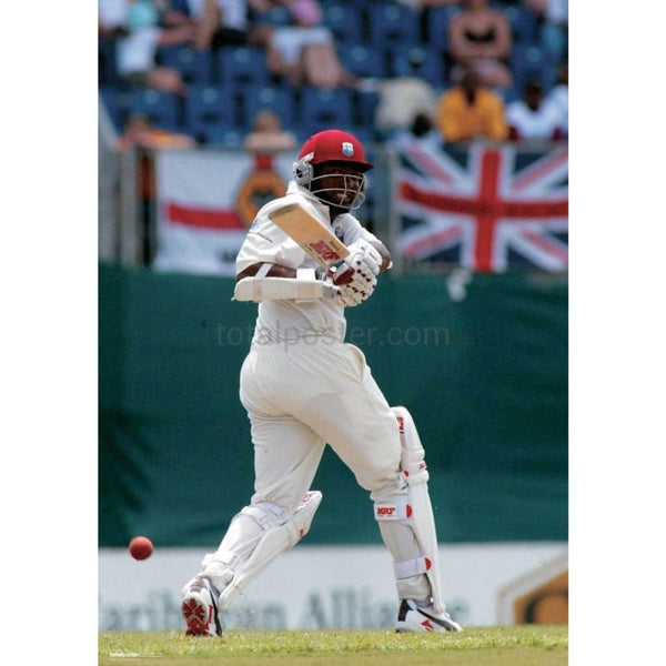 Brian Lara on his wat to breaking the world record during the Fourth Test betweeen West Indies v England at The Recreation Ground - St. John`s - Antigua | TotalPoster