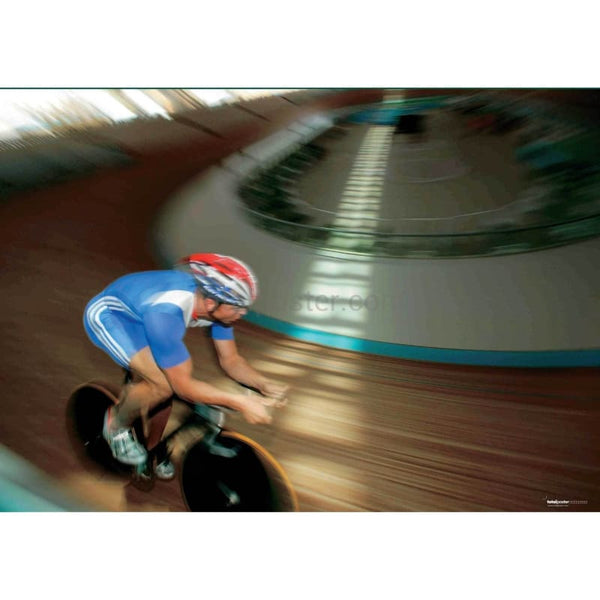 Chris Hoy in action at a Velodrome TotalPoster