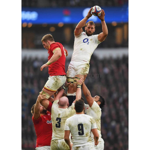Chris Robshaw wins a lineout ball during the RBS Six Nations match between England and Wales at Twickenham Stadium | TotalPoster