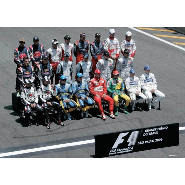 Grand Prix driver line up before the Grand Prix of Brazilil | TotalPoster