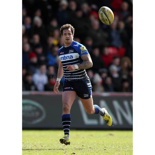 Danny Cipriani in action during the Aviva Premiership match between Sale Sharks and Leicester Tigers | TotalPoster