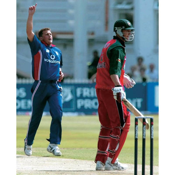 Darren Gough takes the wicket of Douglas Marillier during the England v Zimbabwe Natwest Challenge One Day International at Trent Bridge | TotalPoster