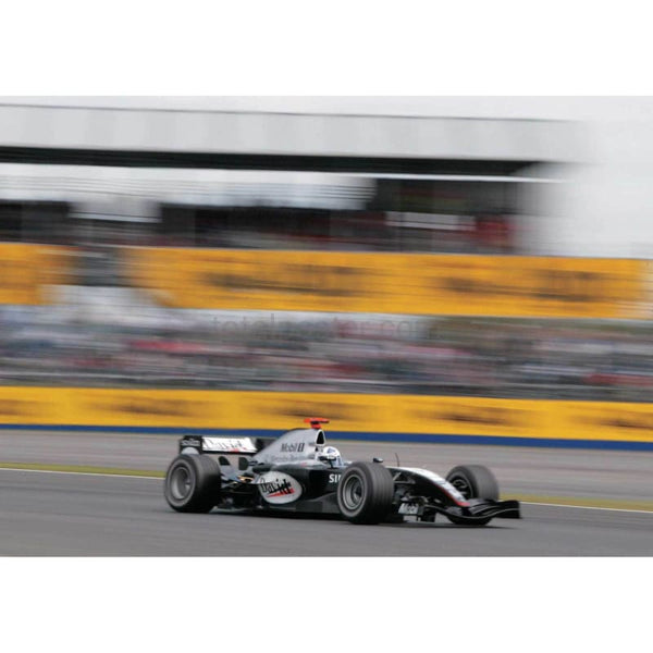 David Coulthard on his way to setting 7th quickest time in qualifying for the British Grand Prix at Silverstone | TotalPoster
