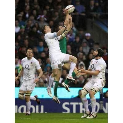 David Strettle jumps | England Six Nations posters TotalPoster