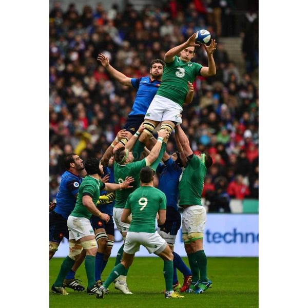 Devin Toner wins lineout ball during the RBS Six Nations match between France and Ireland at the Stade de France | TotalPoster