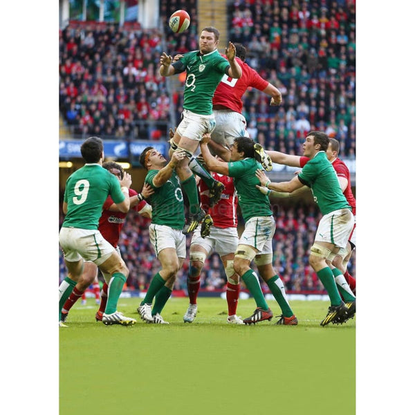 Donnacha Ryan lineout | Ireland Six Nations posters TotalPoster