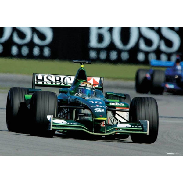 Eddie Irvine / Jaguar R2 on his way to 5th place in the US Grand Prix at Indianapolis | TotalPoster