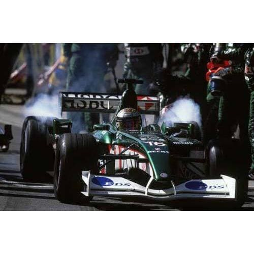 Eddie Irvine / Jaguar leaves the pits during the Brazilian F1 Grand Prix at Interlagos | TotalPoster