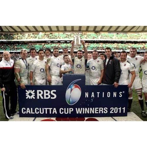 England celebrate with the Calcutta Cup | Six Nations posters TotalPoster