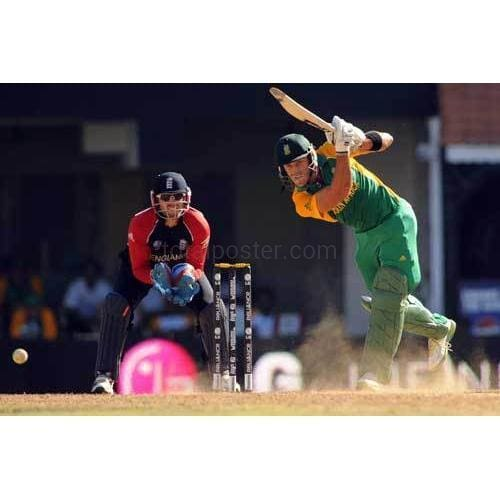 Faf du Plessis bats during the ICC Cricket World Cup Group B match between South Africa and England at M A Chidambaram Stadium | TotalPoster