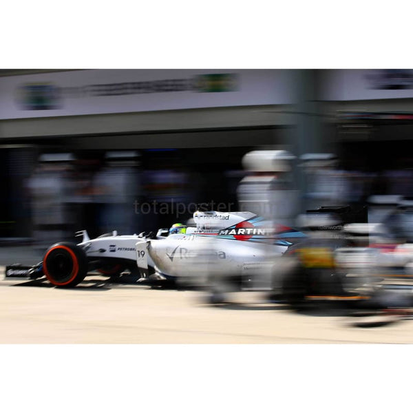 Felipe Massa / Williams makes a pit stop during the Malaysia Formula One Grand Prix at Sepang Circuit in Kuala Lumpur | TotalPoster