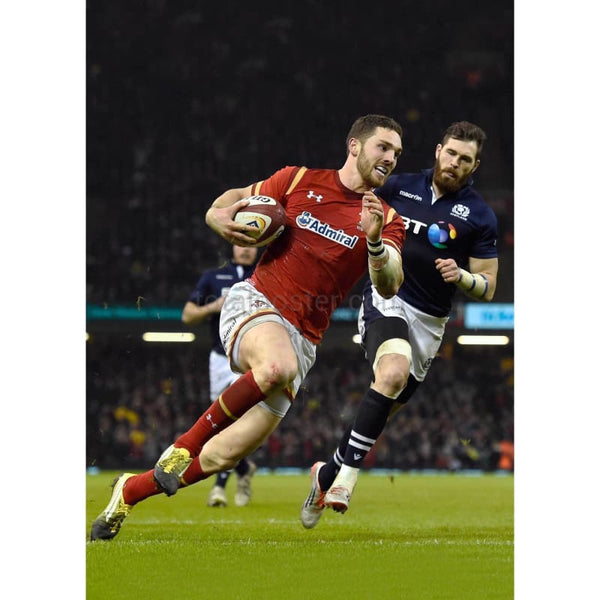 George North scores | Wales Six Nations posters TotalPoster