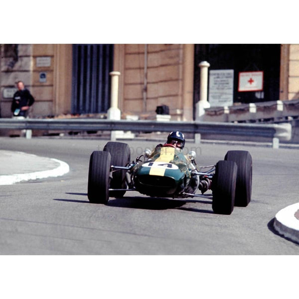 Graham Hill / Lotus in action during the Monaco Grand Prix | TotalPoster