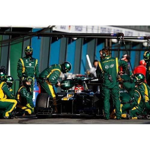 Heikki Kovalainen / Caterham F1 makes a pitstop during the Australian Formula One Grand Prix at the Albert Park circuit | TotalPoster