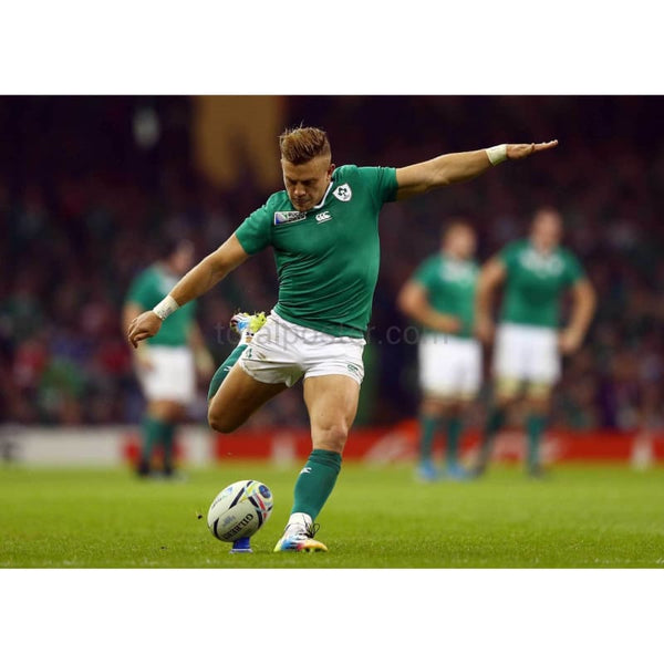 Ian Madigan converts a try during the 2015 Rugby World Cup Pool D match between France and Ireland at Millennium Stadium | TotalPoster