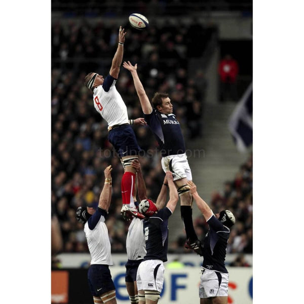 Imanol Harinordoquy lineout | France Six Nations TotalPoster