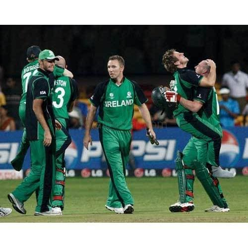 Ireland celebrate victory in the Group B 2011 ICC World Cup match between England and Ireland at M. Chinnaswamy Stadium | TotalPoster