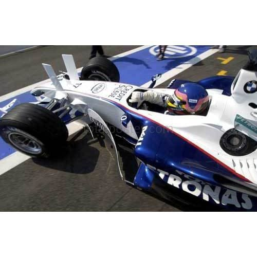 Jacques Villeneuve / BMW Sauber leaves his pit during practice for the French Grand Prix at Magny Cours | TotalPoster
