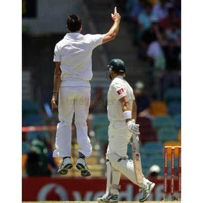 James Anderson takes the wicket of Shane Watson during day two of the First Ashes Test match between Australia and England at The Gabba | TotalPoster