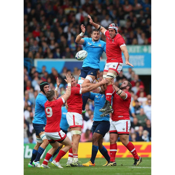 Jamie Cudmore wins a lineout during the 2015 Rugby World Cup Pool D match between Italy and Canada at Elland Road | TotalPoster