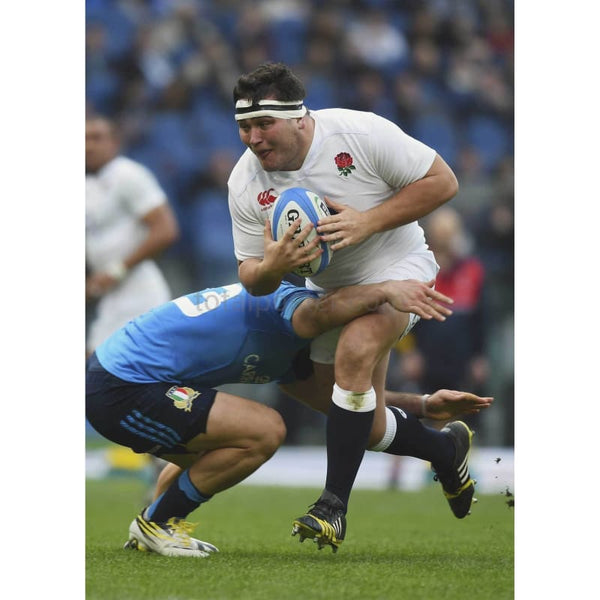 Jamie George in action during the RBS Six Nations match between Italy and England at the Stadio Olimpico | TotalPoster
