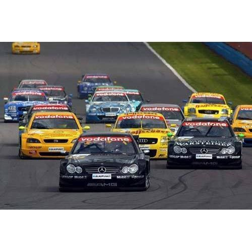 Jean Alesi leads the pack on his way to two commanding wins for Mercedes in the Donington DTM race | TotalPoster