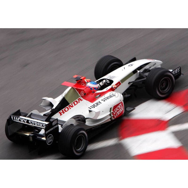 Jenson Button / BAR Honda on his way to second place in the Monaco Grand Prix | TotalPoster