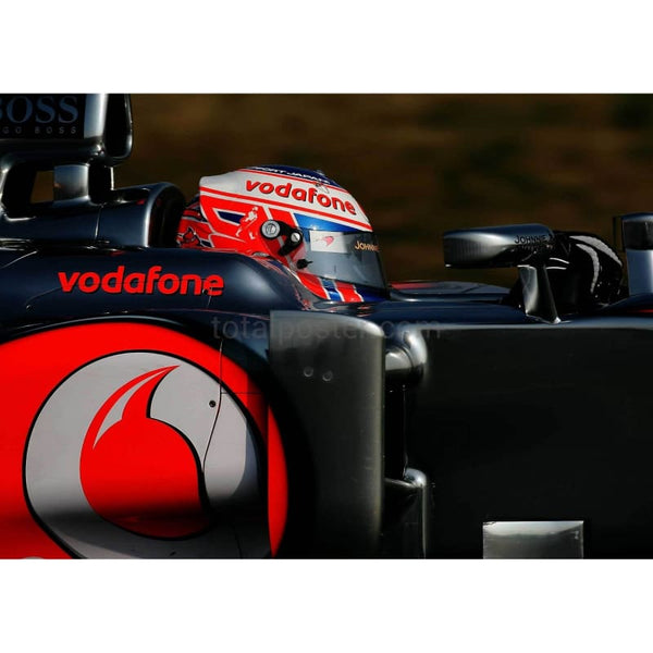 Jenson Button / McLaren drives during day three of Formula One winter testing at the Circuit de Catalunya  | TotalPoster