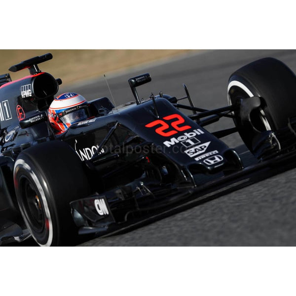 Jenson Button / McLaren Honda during day three of F1 winter testing at Circuit de Catalunya in Montmelo, Spain | TotalPoster