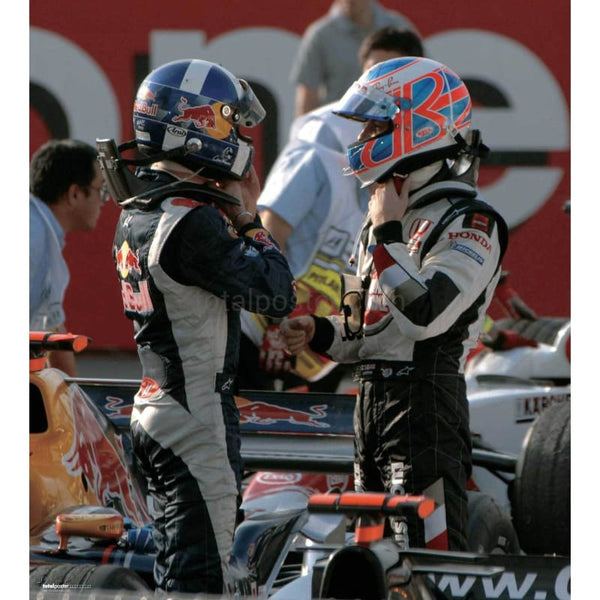 Jenson Button & David Coulthard - Poster