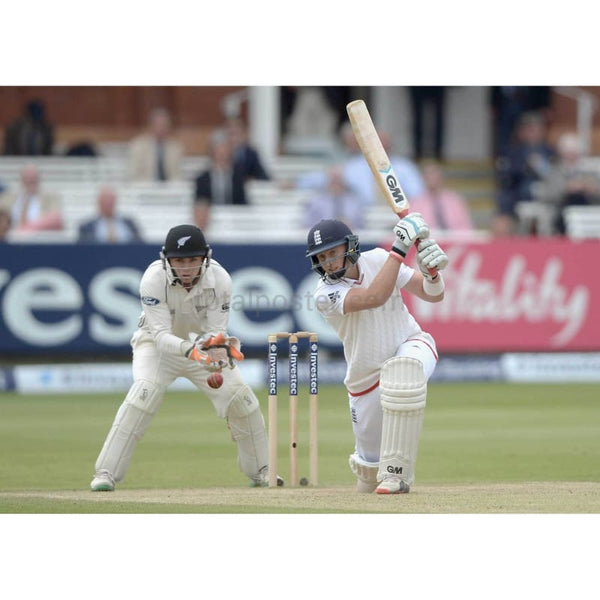 Joe Root bats during day four of 1st Investec Test match between England and New Zealand at Lord's Cricket Ground in London | TotalPoster