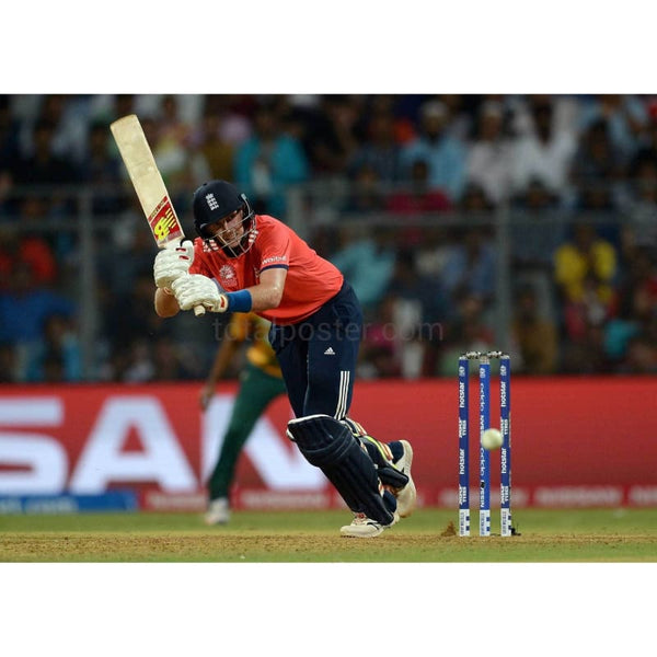 Joe Root bats during the ICC World Twenty20 India 2016 Super 10s Group 1 match between South Africa and England at Wankhede Stadium | TotalPoster