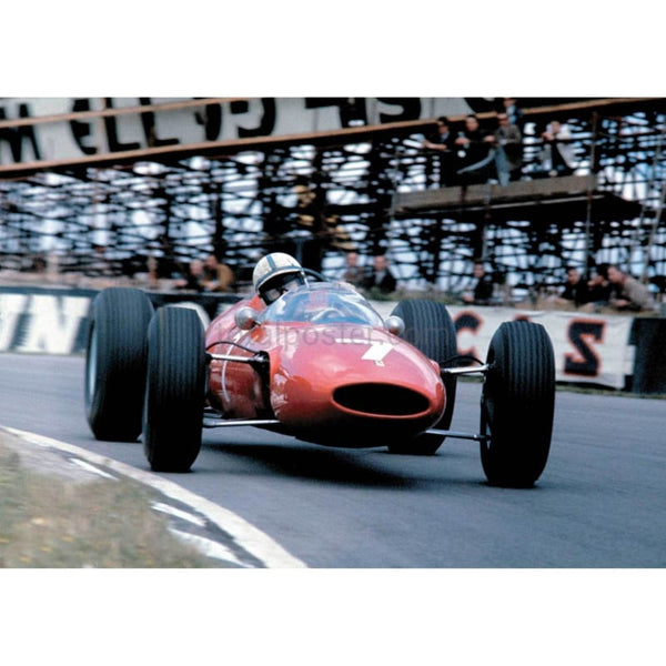 John Surtees / Ferrari F1 inaction during the British Grand prix at Brands Hatch | TotalPoster