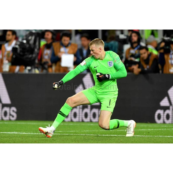 Jordan Pickford Celebrates After Saving A Penalty At The 2018 Fifa World Cup - Poster