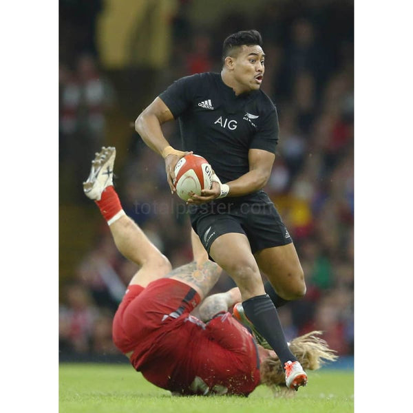 Richard Hibbard of Wales fails to stop Julian Savea of the All Blacks during the International match between Wales and New Zealand at the Millennium Stadium in Cardiff | TotalPoster