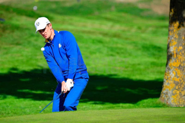 Justin Rose During His Ryder Cup Singles Match - Poster