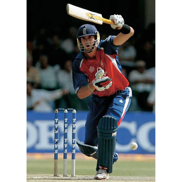 Kevin Pietersen in action during the first One Day International in India | TotalPoster